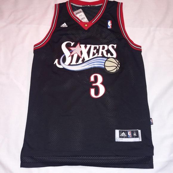 wholesale dealer 6958b 692d0 ALLEN IVERSON #3 Philadelphia 76ers adidas Jersey NWT